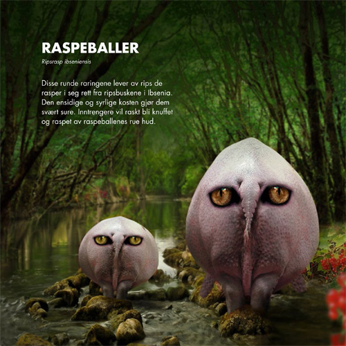 raspeballer - fabalaktige dyr